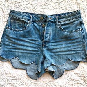 H&M | Button Fly High Waist Shorts | Sz 8